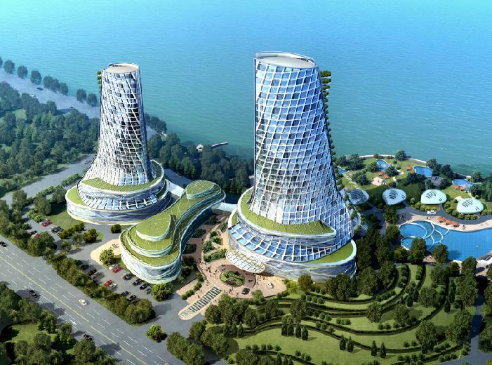 [湖北]武汉金银湖华尔登国际酒店规划建筑设计文本