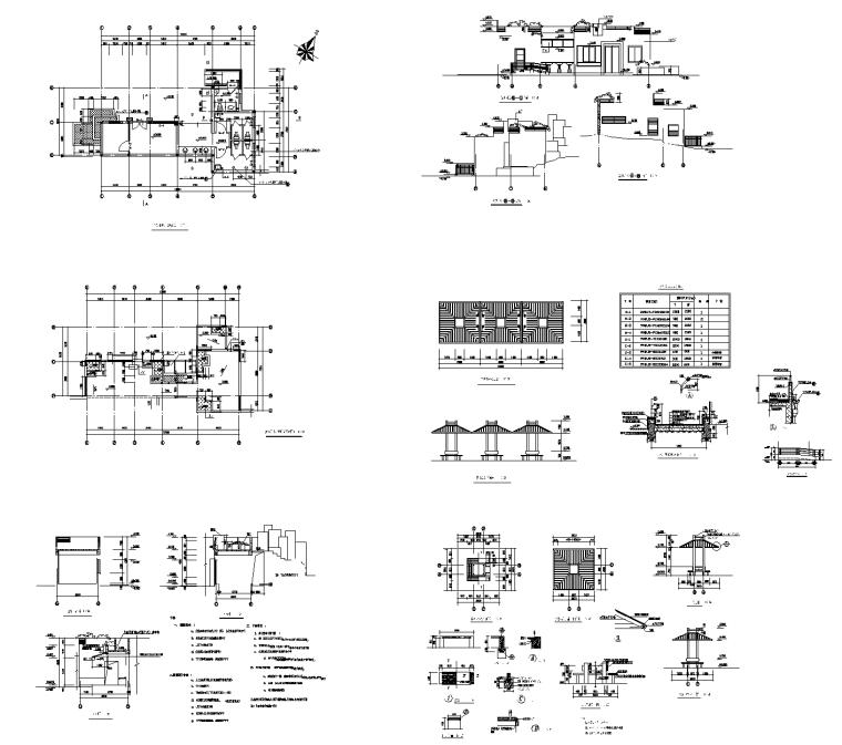 园林公建-18套管理房CAD施工图