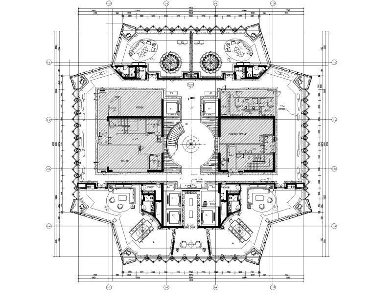 [广东]CCD-深圳平安金融中心顶层会所CAD平面图