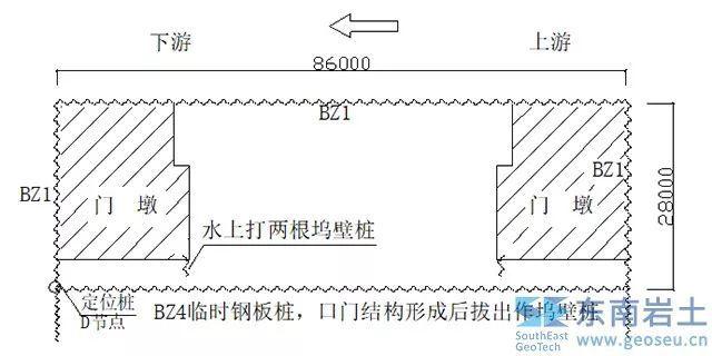 项目分析 上海船厂七万吨船台水上钢板桩施工简介