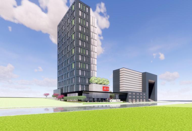 永明大厦(运维国际)综合办公楼投标方案su模型
