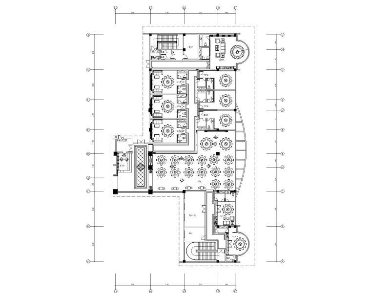1000平米中餐厅室内装饰竣工图