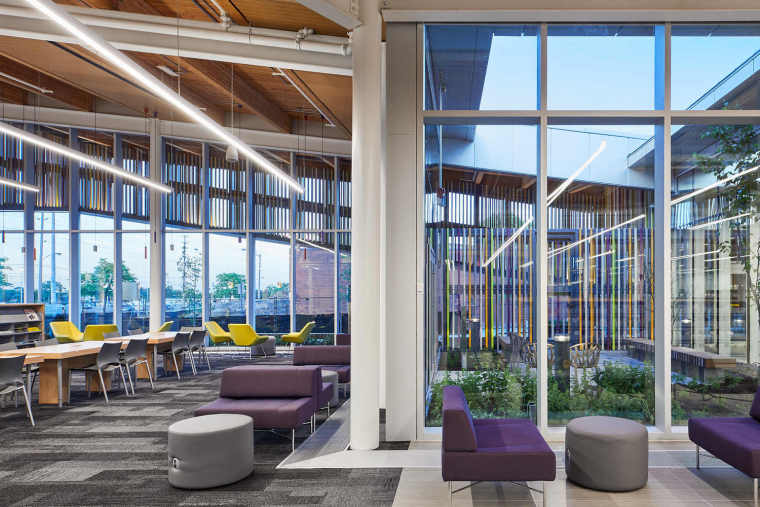 加拿大几何形状图书馆室内设计方案文本