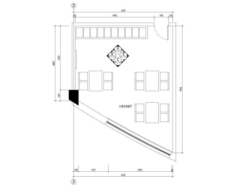 办公楼-少数民族餐厅装修施工图