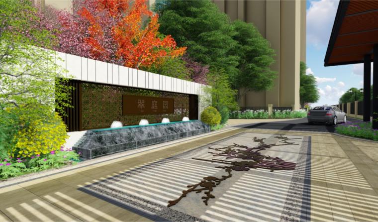 [天津]武清翠庭园居住区大区景观方案设计-朗道(新古典法式)