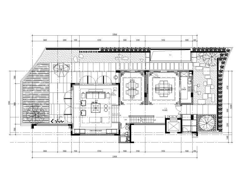 [广东]CCD-深圳盐田京基长岭别墅装修设计施工图+概念设计+效果图
