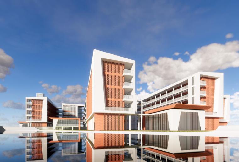 现代风格学校设计模型(2018年)