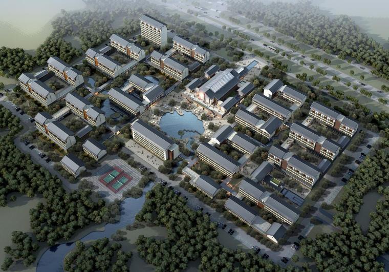 [湖南]张家港凤凰镇康复养老中心老年公寓建筑模型设计