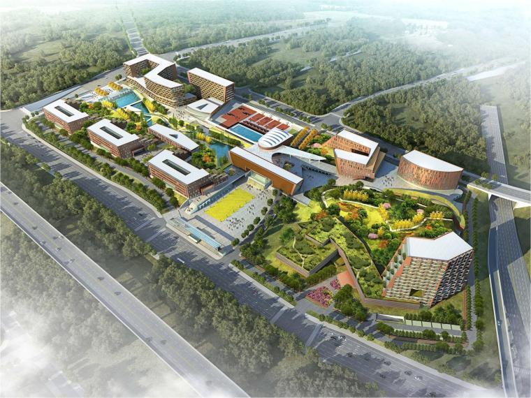 [四川]外国语大学重庆国际商学院概念性方案模型设计(2018年)