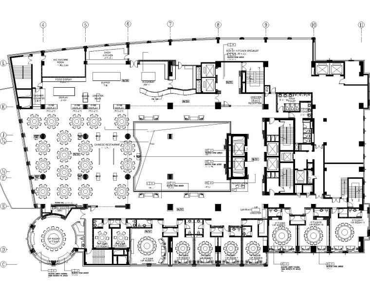 2000平米中餐厅室内装修设计施工图