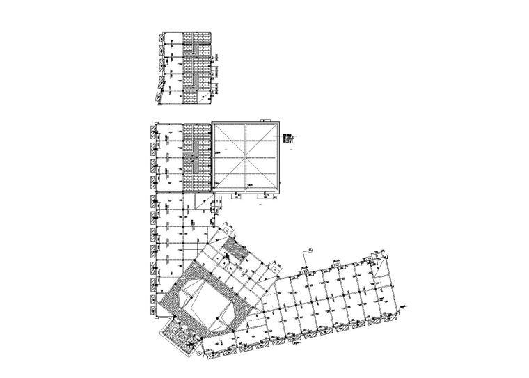 3层框架结构商业用房施工图建筑结构水暖电