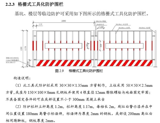 施工现场安全文明标准化手册(137页,图文并茂)-格栅式工具化防护围栏