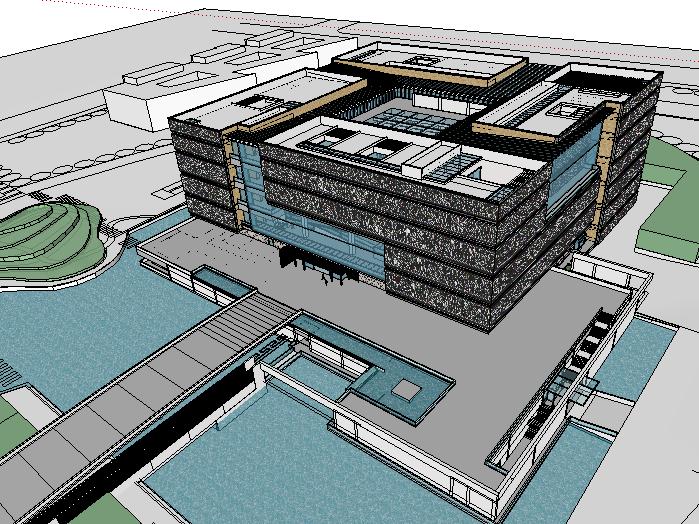 某文化博物馆建筑模型设计