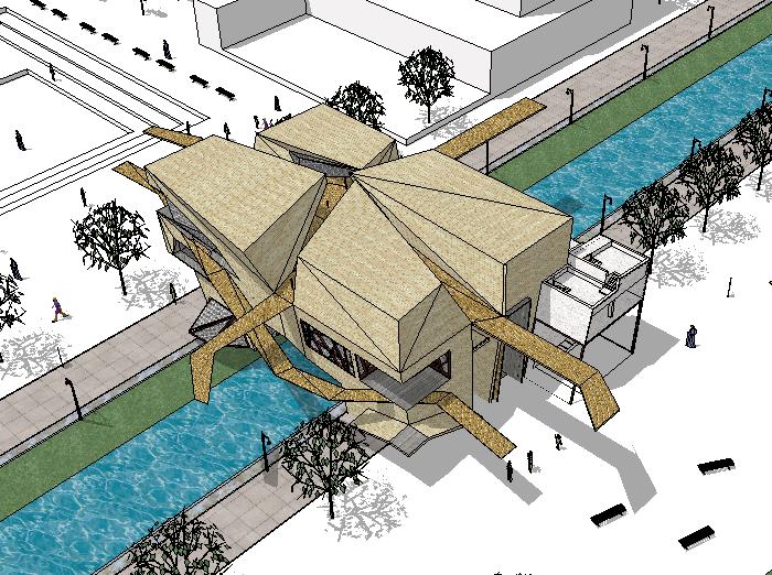 现代博物馆建筑模型设计
