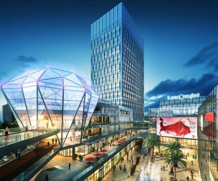 [广西]南宁绿地中心综合体建筑模型设计
