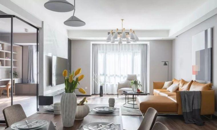 150㎡现代简约设计,用活泼的橙色点亮时尚家居