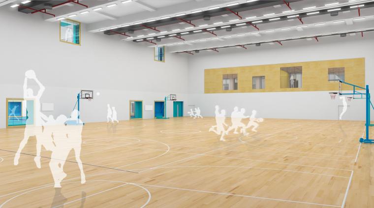 [北京]BIAD-北京大学附属中学体育馆一期教学北楼设计模型(SU+3D)
