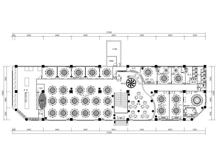 [四川]成都现代某大饭店中餐厅室内装修施工图