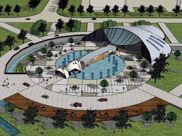 某大型博物馆建筑模型设计