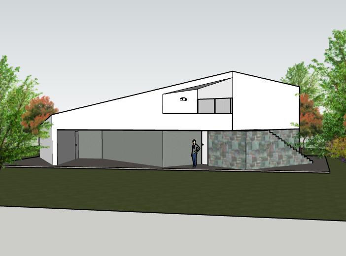 葡萄牙三角别墅住宅建筑模型设计