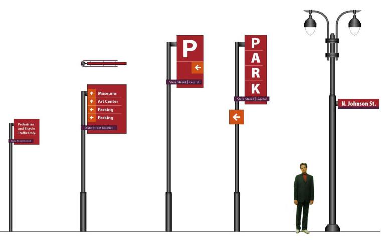 5700张导视系统丨路灯标识,指示牌意向图(9)