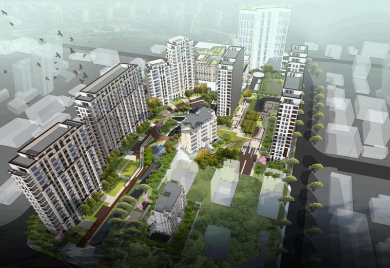 [上海]杨浦商业景观及居住区景观方案文本-朗道(现代简约)