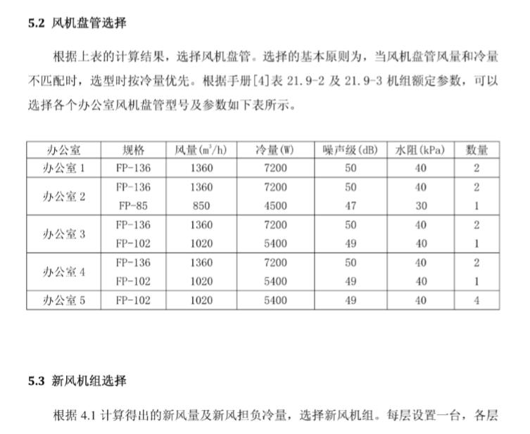 广东办公楼暖通课程设计