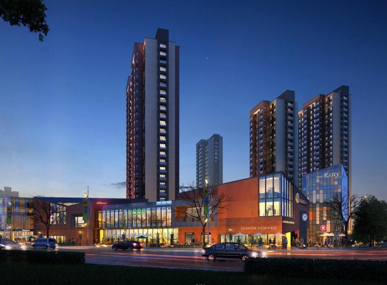 [上海]路劲·上海派现代风格商业街建筑模型设计(柏涛)