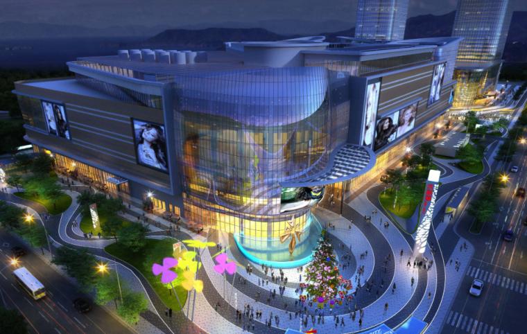 [山东]烟台大悦城商业景观深化方案设计朗道(含:屋顶花园)