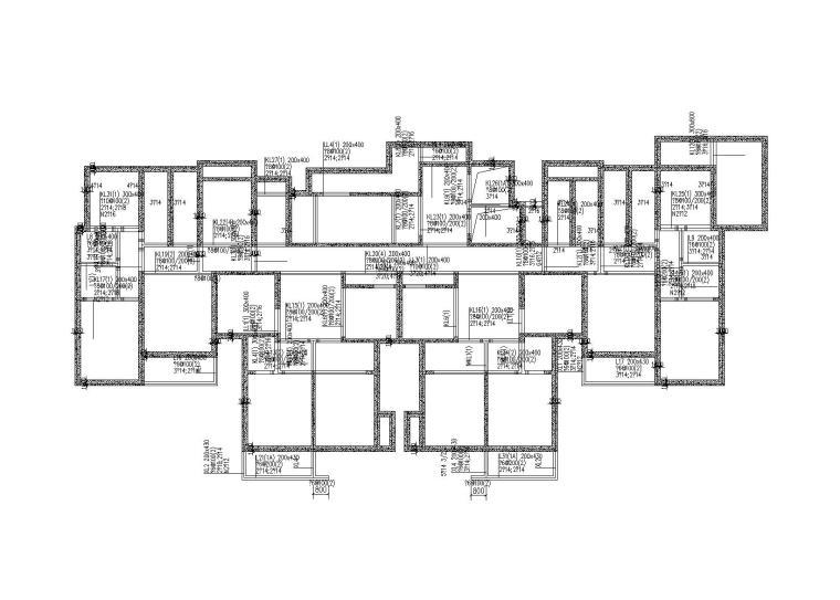 33层剪力墙住宅楼结构施工图(螺旋喷灌组合桩+筏板,2018)