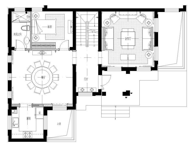 [江苏]昆山国润浪漫法式别墅样板间CAD施工图