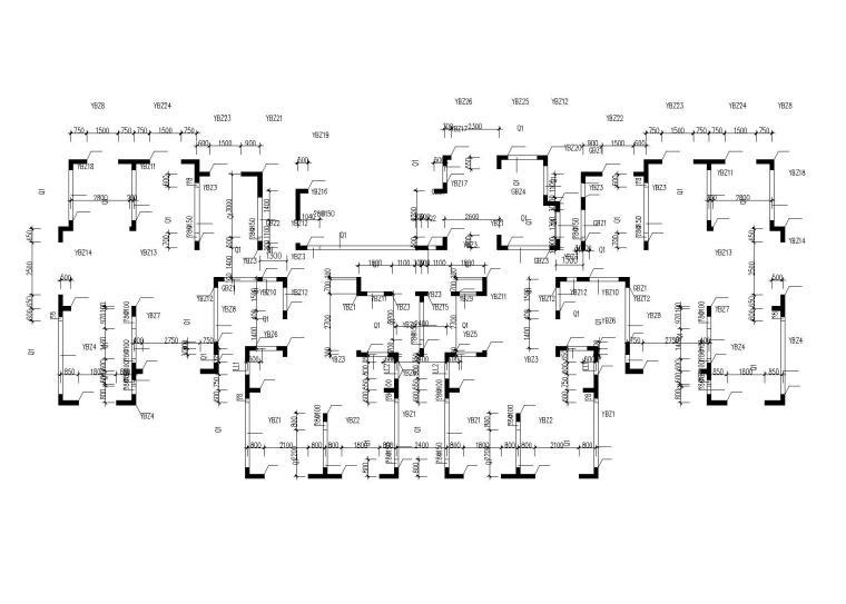 标高11.480~14.380 剪力墙平法施工图