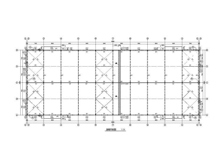 混凝土排架结构(钢梁)厂房结构施工图(2011)