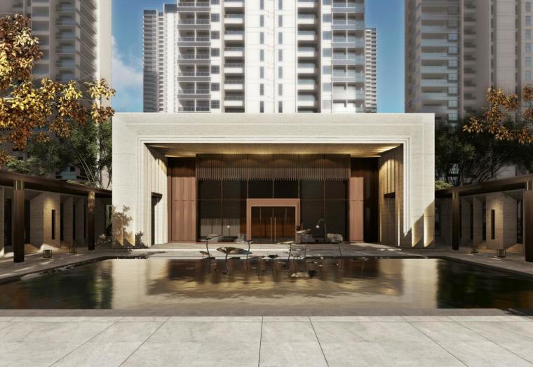 旭辉·武汉铂悦现代典雅建筑模型设计(售楼处+商业+幼儿园 )