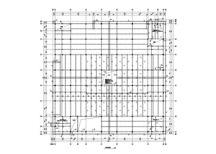 3层煤矿设备生产线项目框架综合楼结构图