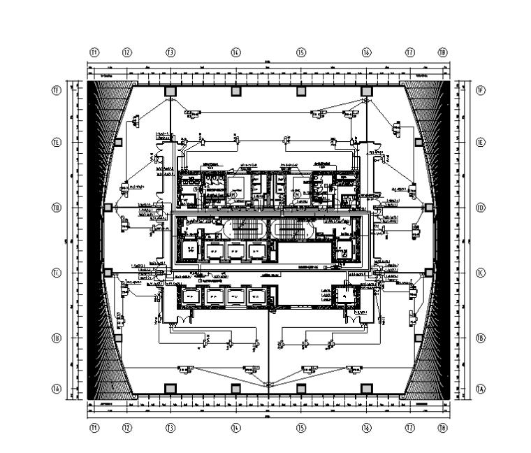 天津写字楼标准层精装电气施工图