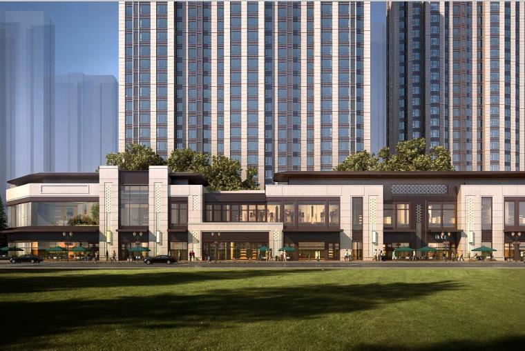 万科沿街商业+高层+别墅建筑模型设计(现代风格)