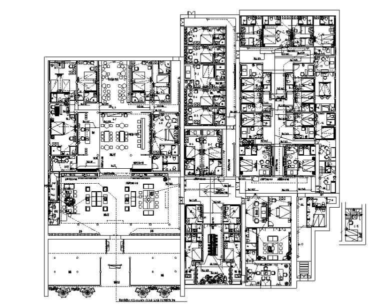 民宿酒店丨效果图+施工图+水电消防图