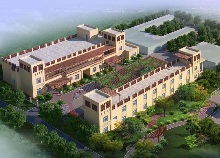 [新疆]居住区民宿建筑模型设计(伊斯兰清)