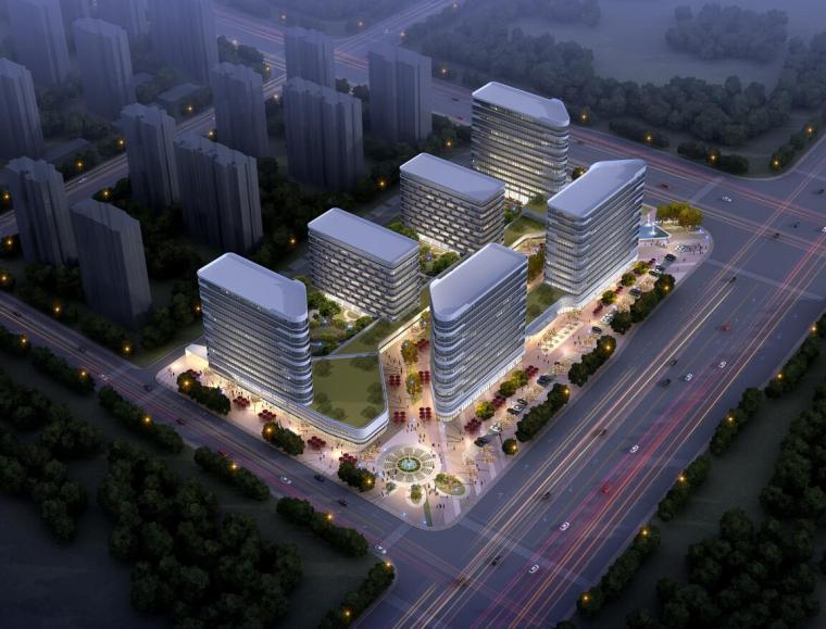 人才公寓建筑文本资料下载-新华人才公寓+酒店建筑模型设计(2018年)