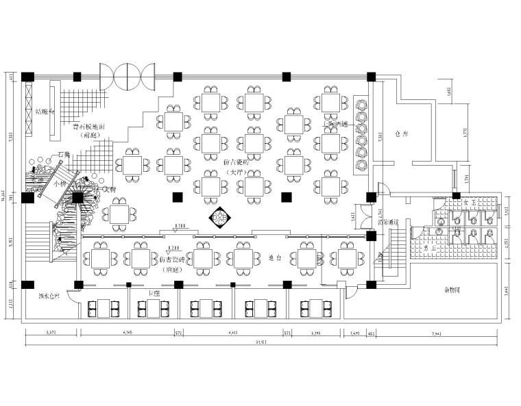 [湖南]湘水人家餐厅益阳连锁店室内装修设计施工图