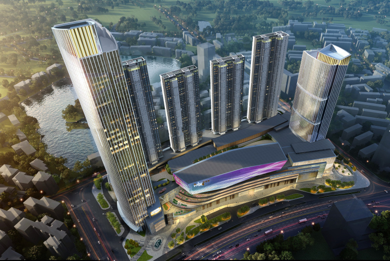 南宁万象城模型资料下载-[湖北]武汉华润中心万象城建筑模型设计(2018年)