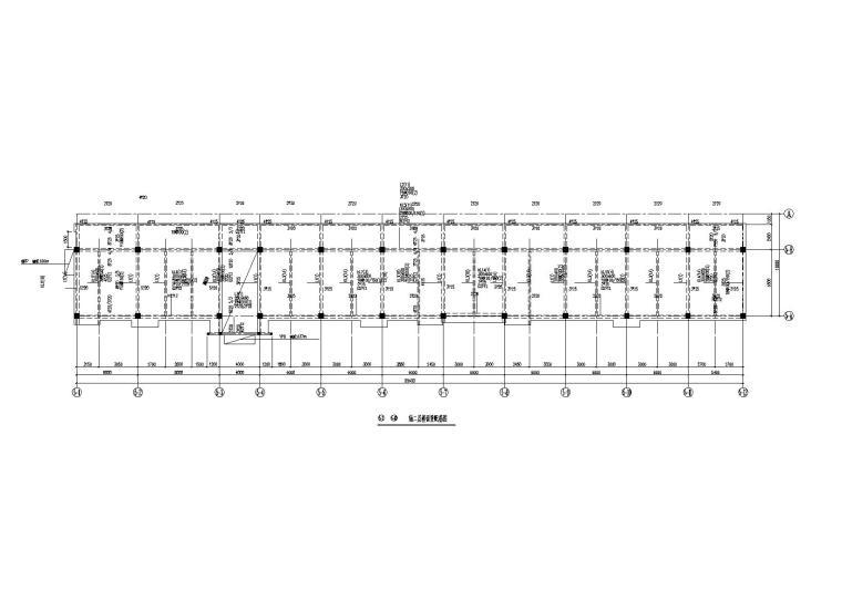 [三层]3层钢混框架结构车间辅房建筑结构施工图(2010)