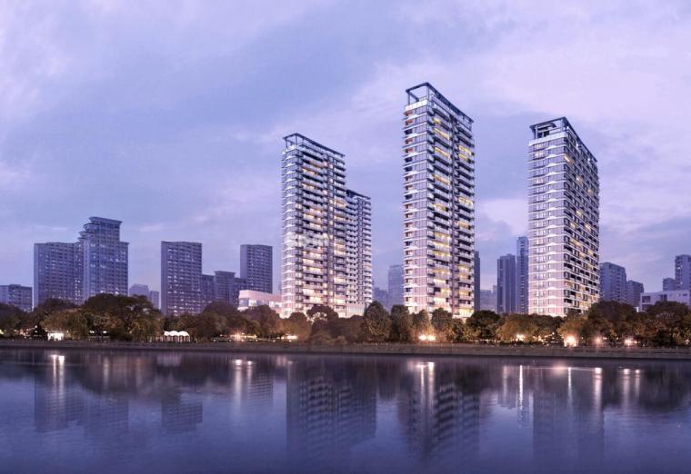 [浙江]温州大发绿轴·现代滨江高层跃层豪宅+酒店建筑模型设计