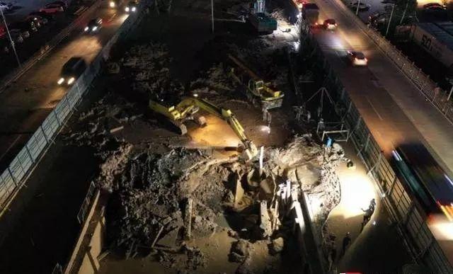 揪心!广州一道路施工现场塌方,事发地距地铁直线距离不超100米