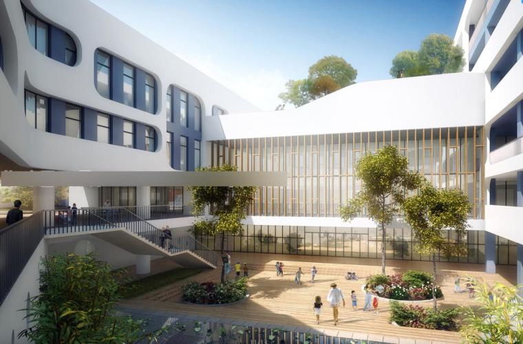 [安徽]合肥丹霞初级中学规划方案模型设计