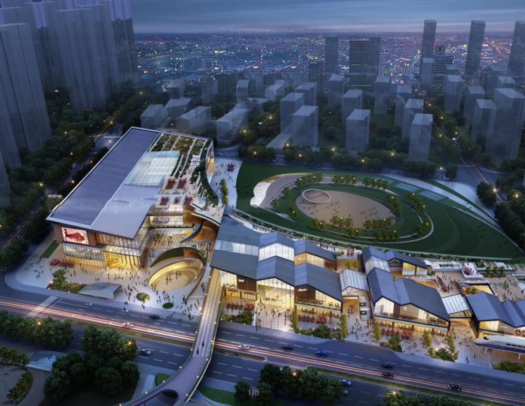 [天津]远洋·宜兴埠居住区建筑模型设计(中式商业、老街、邻里中心正式)