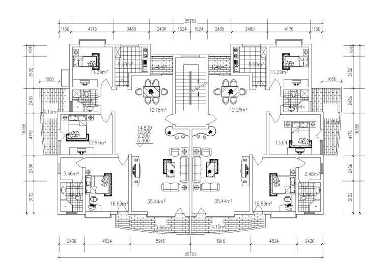 40个经典别墅户型图(CAD图纸)