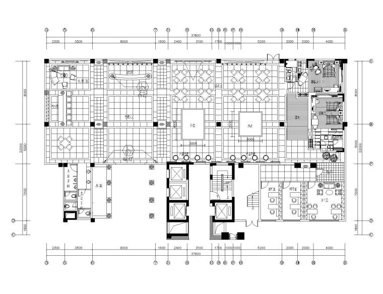 [广东]泊岸雅苑-销售大厅&酒店大堂室内装修施工图纸