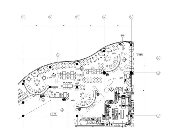 北京某五星酒店全日餐厅装修设计CAD施工图